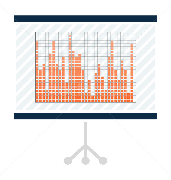 Graphic with Bars in Presentation on Big Screen Stock photo © robuart