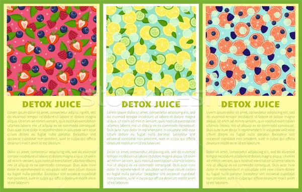 Stok fotoğraf: Meyve · suyu · poster · malzemeler · içmek
