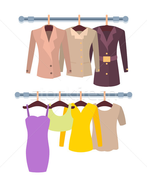 Hangers with Mode Female Stuff Colorful Template Stock photo © robuart