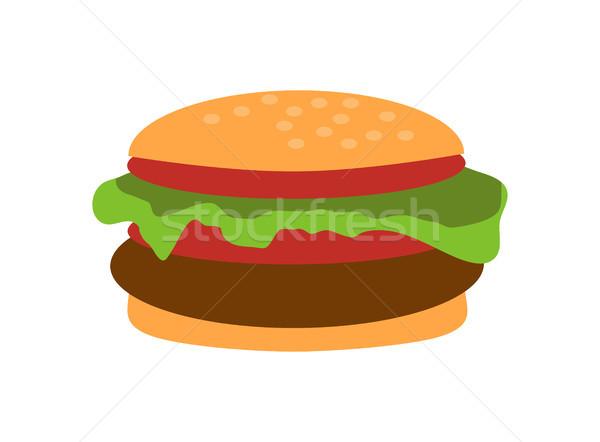 Hamburguesa con queso primer plano objeto delicioso alimentos Foto stock © robuart