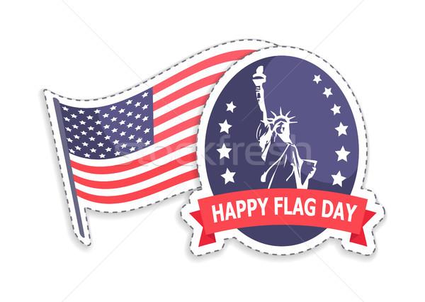 Mutlu bayrak gün tebrik heykel Stok fotoğraf © robuart