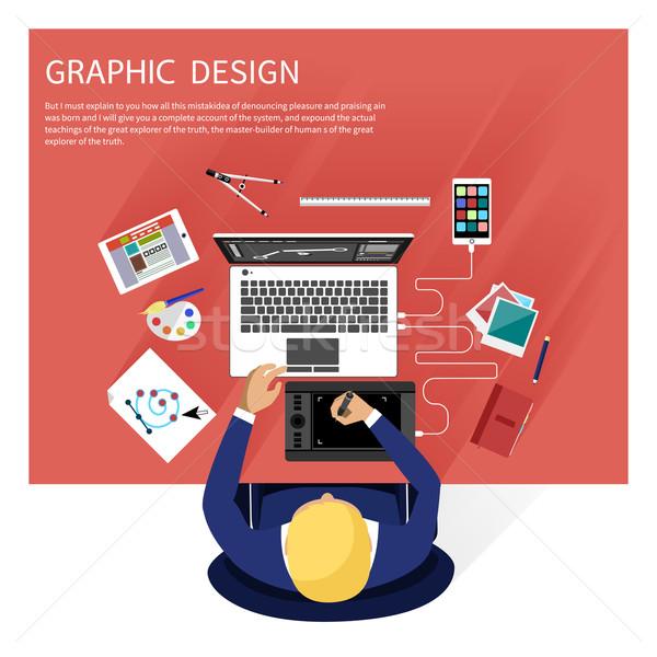 グラフィックデザイン デザイナー ツール コンセプト ソフトウェア デザイン ストックフォト © robuart