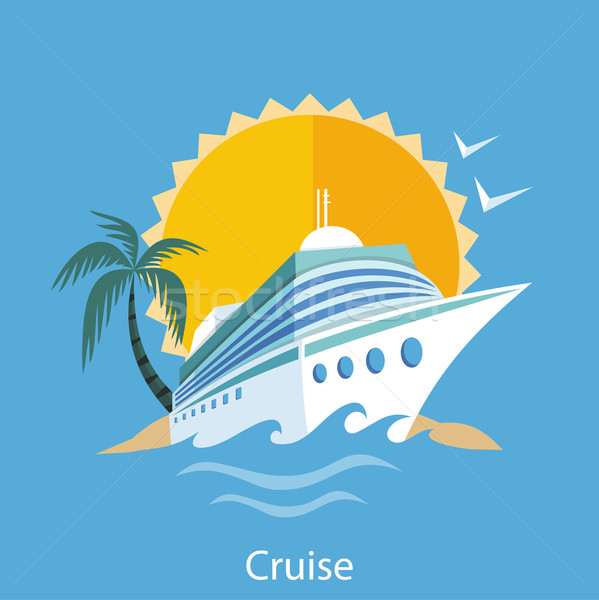 Cruise Ship. Water Tourism. Stock photo © robuart