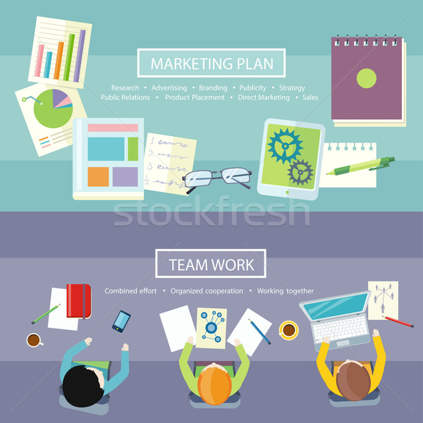 Team Work and Marketing Plan Concept Stock photo © robuart