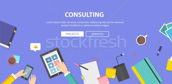 Consultor serviço trabalho em equipe necessário desenvolvimento idéias Foto stock © robuart