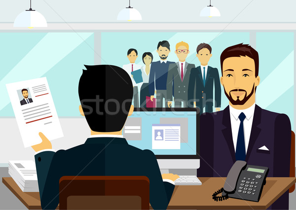 Concept of Hiring Recruiting Interview Stock photo © robuart