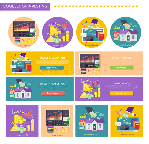 Concept Investment Gold Education Property Shares Stock photo © robuart