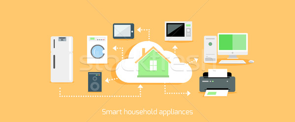 Smart Household Appliances Icon Flat Design Stock photo © robuart
