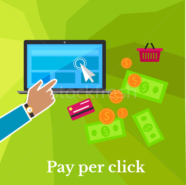 Pay Per Click Poster Stock photo © robuart
