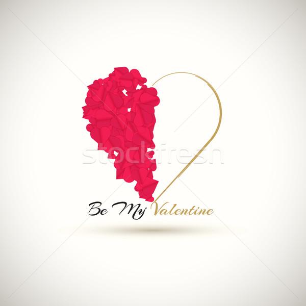 Feliz dia dos namorados meu valentine capina elemento Foto stock © robuart