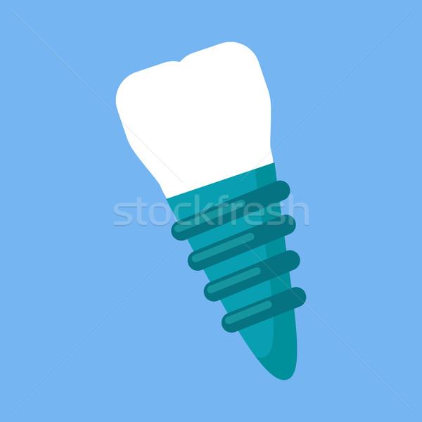 Dentales implante diseno icono atención dental dientes Foto stock © robuart