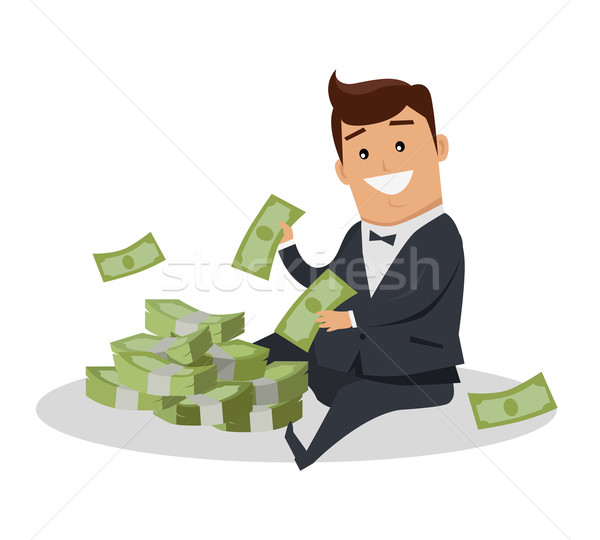Man Character With Money Vector Illustration Stock photo © robuart
