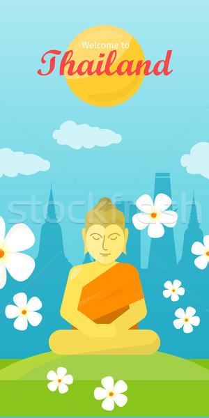 Tailandia viaje anunciante turismo diseno Buda Foto stock © robuart