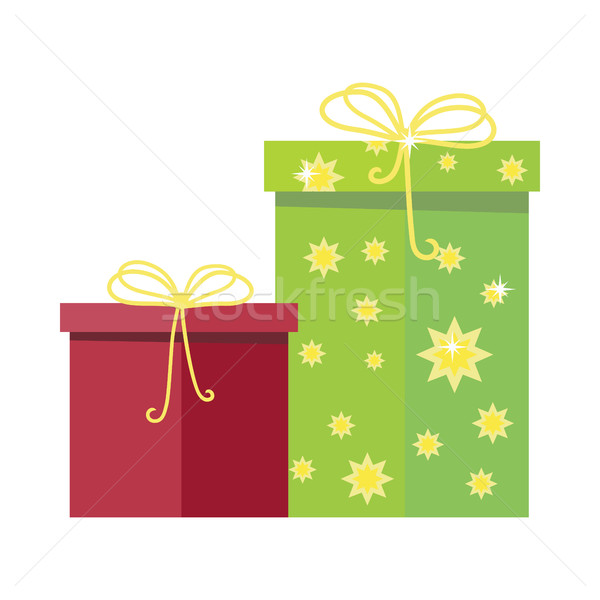 Gift Boxes Vector Icon in Flat Style Design   Stock photo © robuart