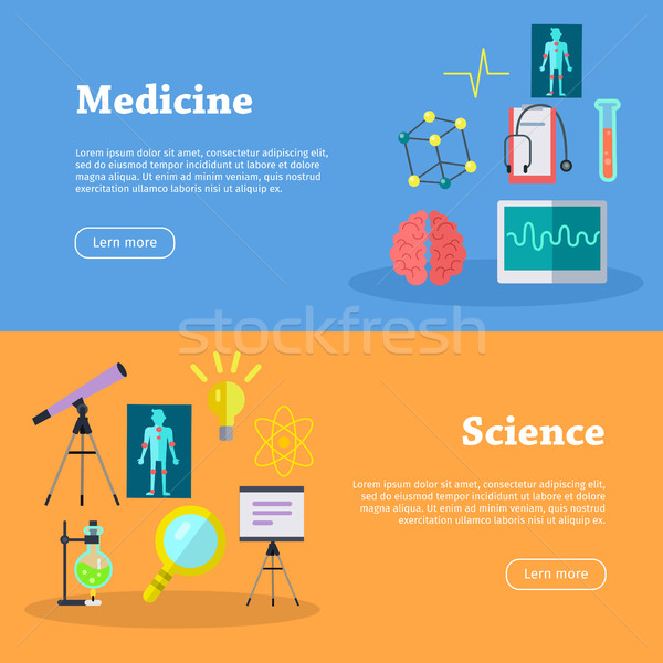 Medicine and Science Web Banners Stock photo © robuart