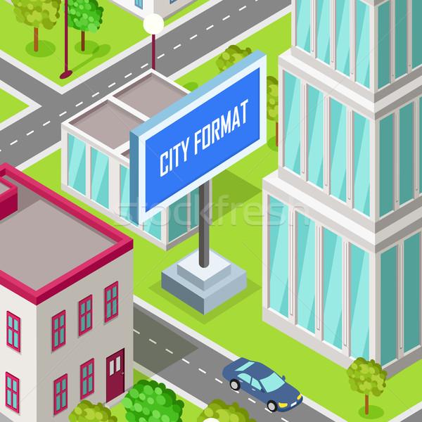 город формат автомобилей вождения дороги городского Сток-фото © robuart