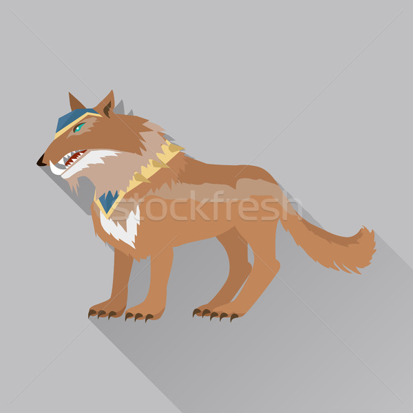 Game Wolf Avatar Icon Isolated on White Stock photo © robuart