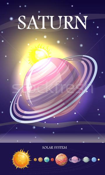 планеты Солнечная система звезды солнце Плутон земле Сток-фото © robuart
