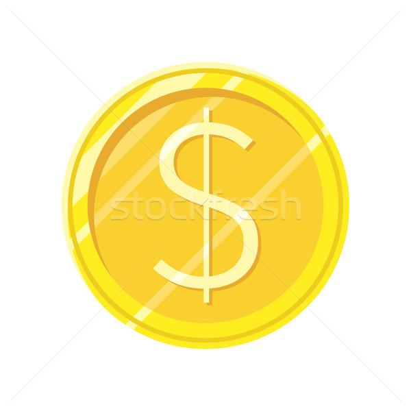 ドル 金貨 ベクトル アイコン スタイル デザイン ストックフォト © robuart
