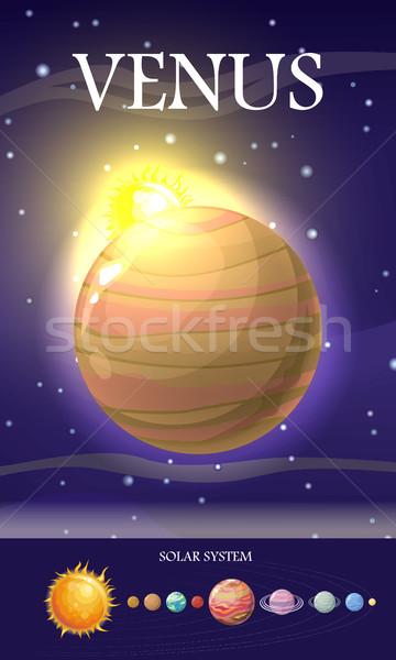Venus Planet. Sun System. Universe. Vector Stock photo © robuart
