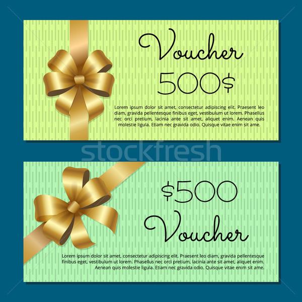 ваучер 500 набор подарок модный Сток-фото © robuart