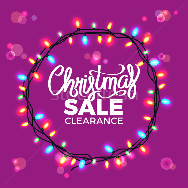 Christmas Sale Clearance on Vector Illustration Stock photo © robuart