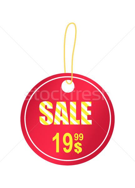 Vente babiole jaune cordon lumière rouge Photo stock © robuart