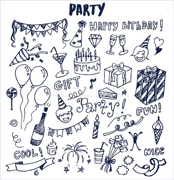вечеринка Cool весело Nice плакат Сток-фото © robuart