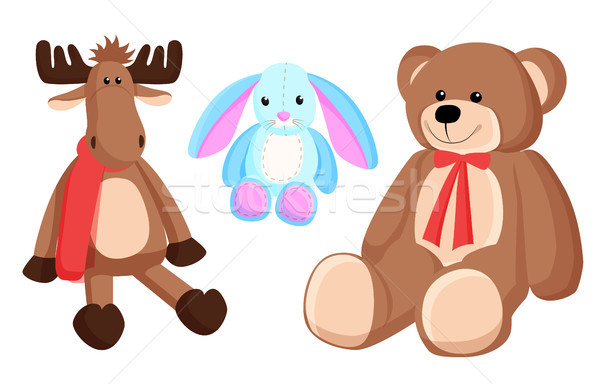 Reindeer Bunny Christmas Toys Vector Illustration Stock photo © robuart