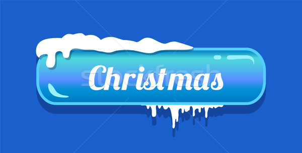 Christmas Blue Glossy Button Vector Illustration Stock photo © robuart