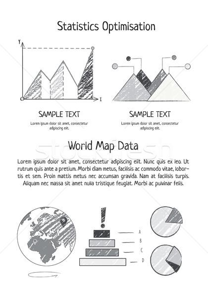 統計 最適化 世界地図 データ ポスター 地球 ストックフォト © robuart