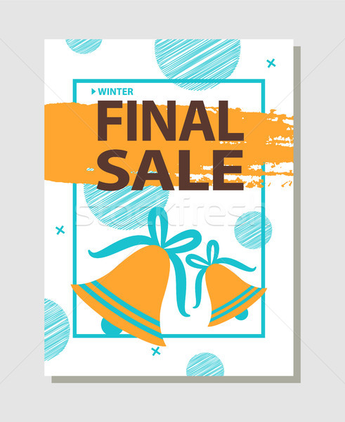 Final Sale Promo Poster with Two Golden Bells Stock photo © robuart
