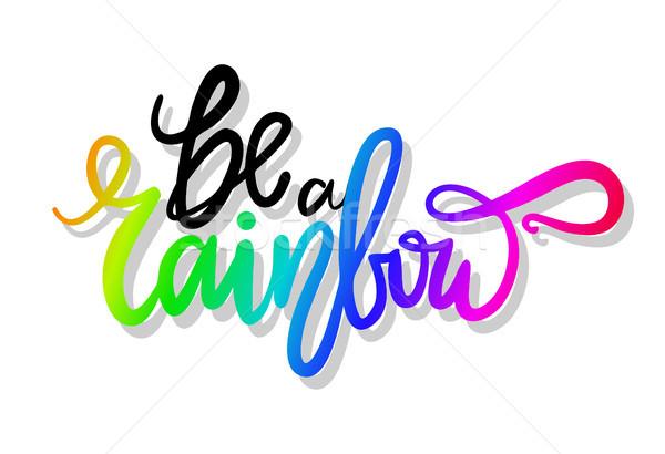 Be a Rainbow Graffiti Icon Vector Illustration Stock photo © robuart