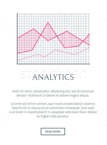 Analytics web page texte échantillon facile Photo stock © robuart