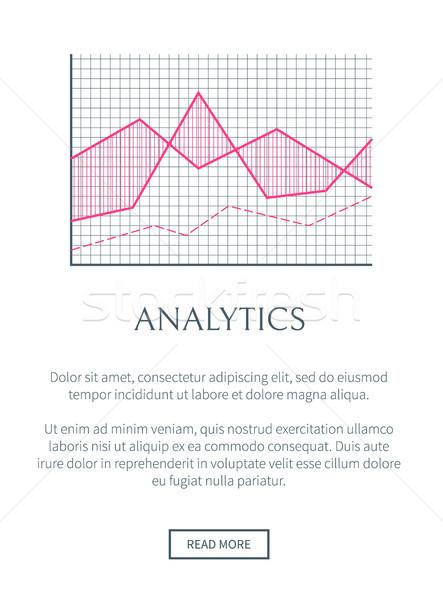 Analitika háló oldal szöveg minta könnyű Stock fotó © robuart
