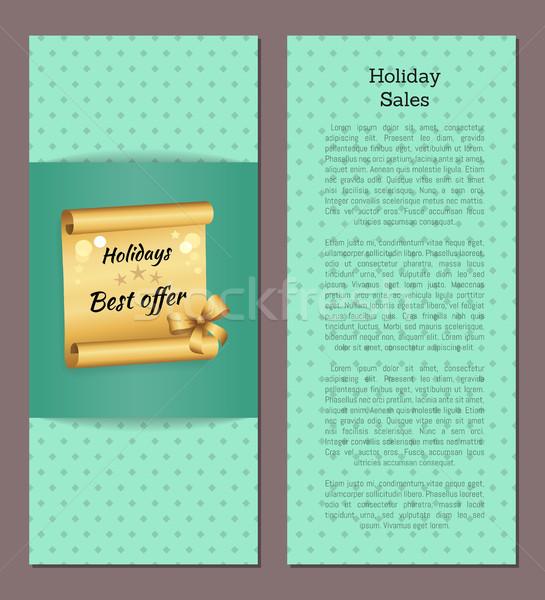 ünnepek vásár poszter arany tekercs legjobb Stock fotó © robuart