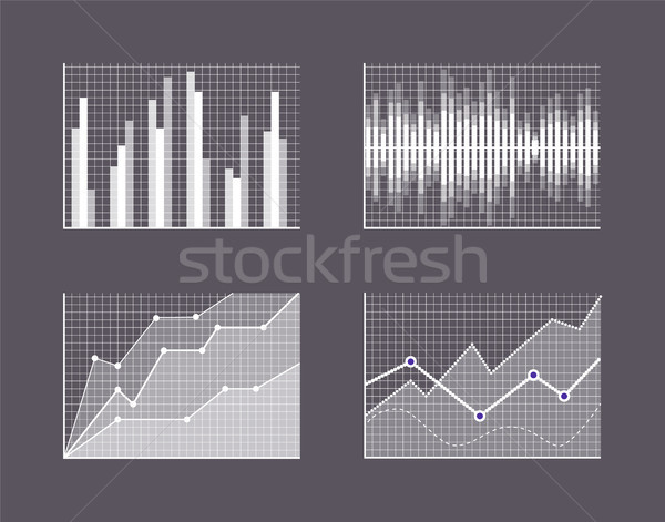 Charts Visualisation Poster Vector Illustration Stock photo © robuart