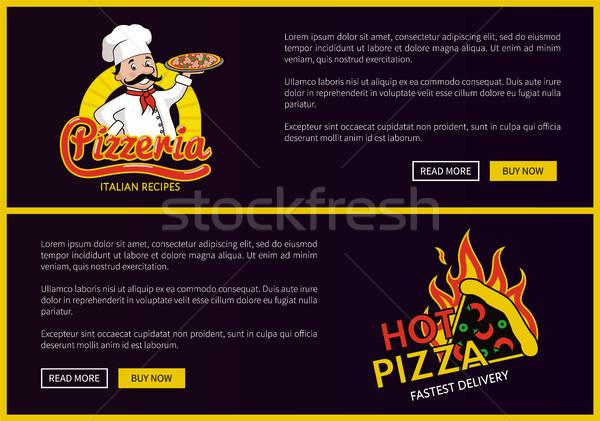 Pizzacı çevrimiçi teslim hizmet promo Stok fotoğraf © robuart
