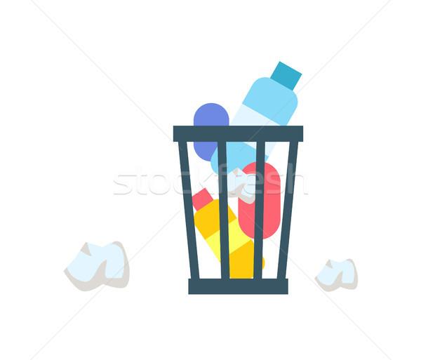 Onzin emmer kleurrijk banner geïsoleerd witte Stockfoto © robuart