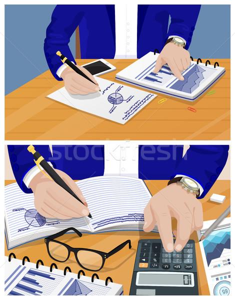 Businessman Activities Set Vector Illustration Stock photo © robuart