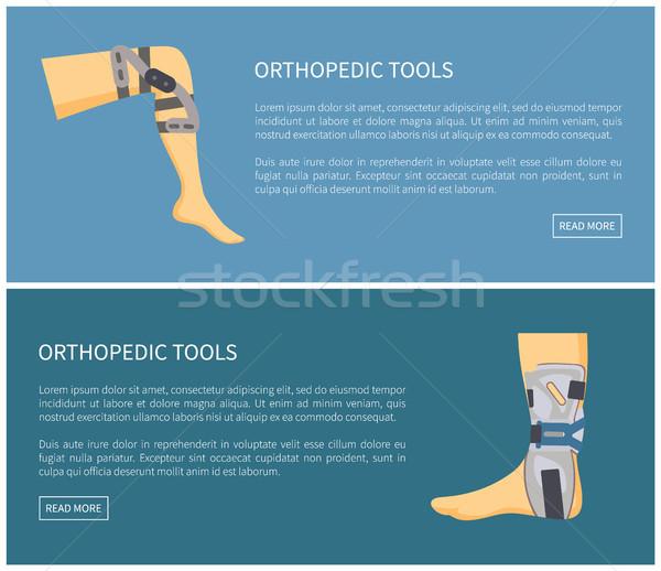 Orthopedische tools ingesteld kleurrijk poster geïsoleerd Stockfoto © robuart
