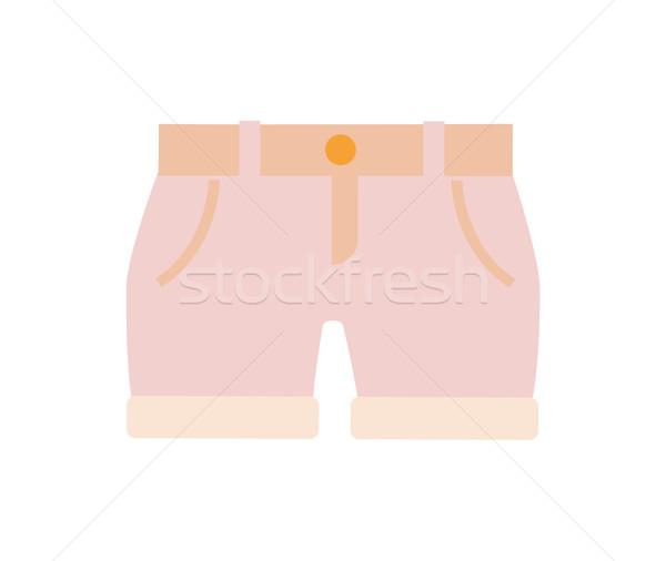 Bébé vêtements rose short couleur enfants Photo stock © robuart