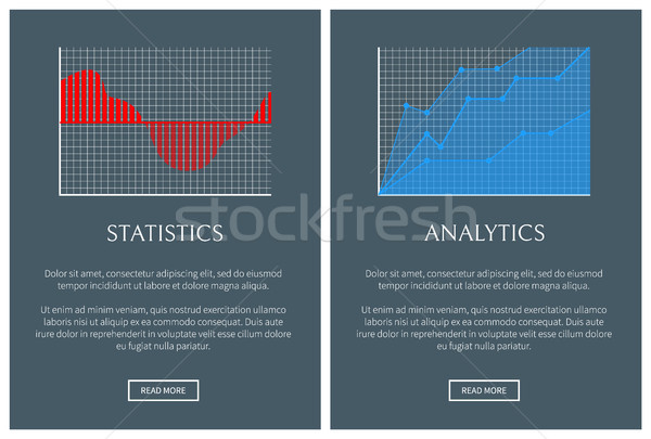 Statistiques analytics forme graphiques diagrammes Photo stock © robuart
