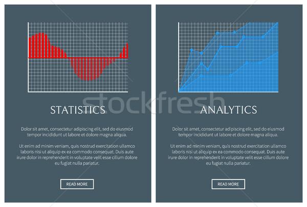 Statistiche analitica forma grafica set diagrammi Foto d'archivio © robuart