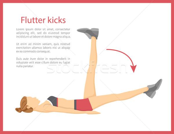 Flutter Kicks Banner Text Vector Illustration Stock photo © robuart