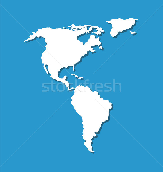 Map of South and North America in Atlantic Ocean Stock photo © robuart