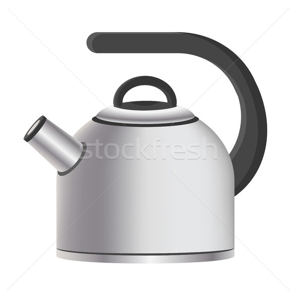 Silver Model of Kitchen Kettle Vector Illustration Stock photo © robuart