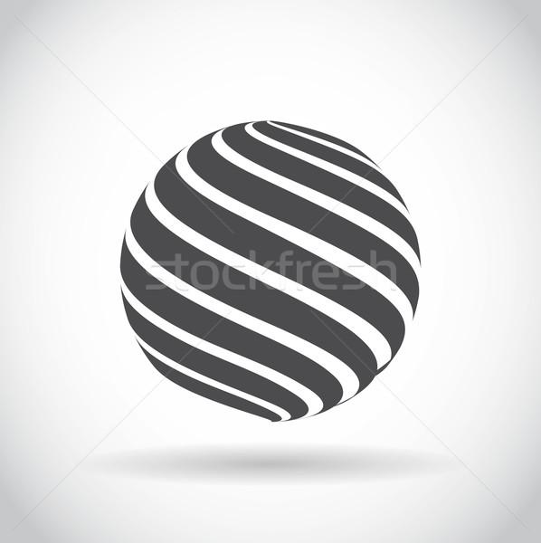 Abstract turbinio sfera mondo simbolo business Foto d'archivio © robuart