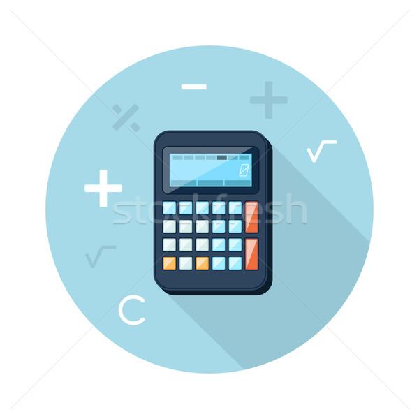 Számológép ikon matematikai szimbólumok szorzás meg Stock fotó © robuart