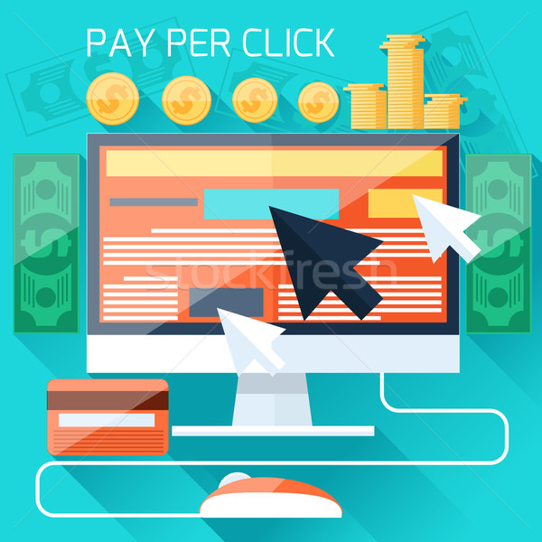 Pay per click internet advertising model Stock photo © robuart